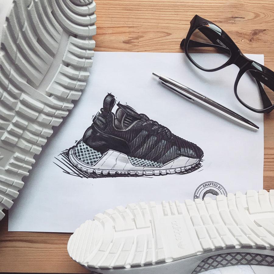 Sneaker Illustrations John Kaiser Knight - adidas Atric Runner (Doodle)