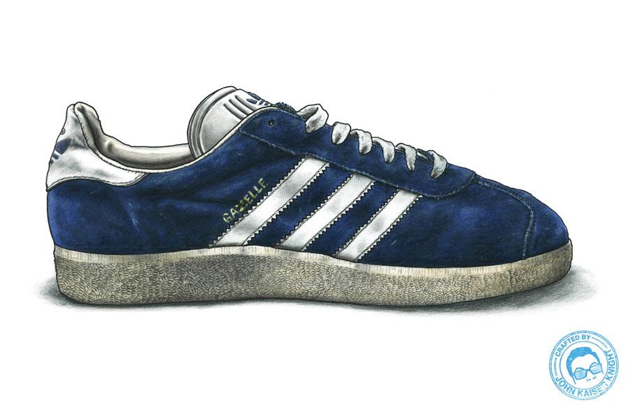 Sneaker Illustrations John Kaiser Knight - adidas Gazelle 90s (Rendering)