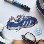Sneaker Illustrations John Kaiser Knight - adidas Gazelle (Doodle)