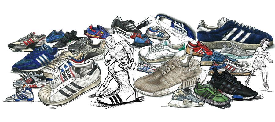 Sneaker Illustrations John Kaiser Knight - adidas Master Tribute