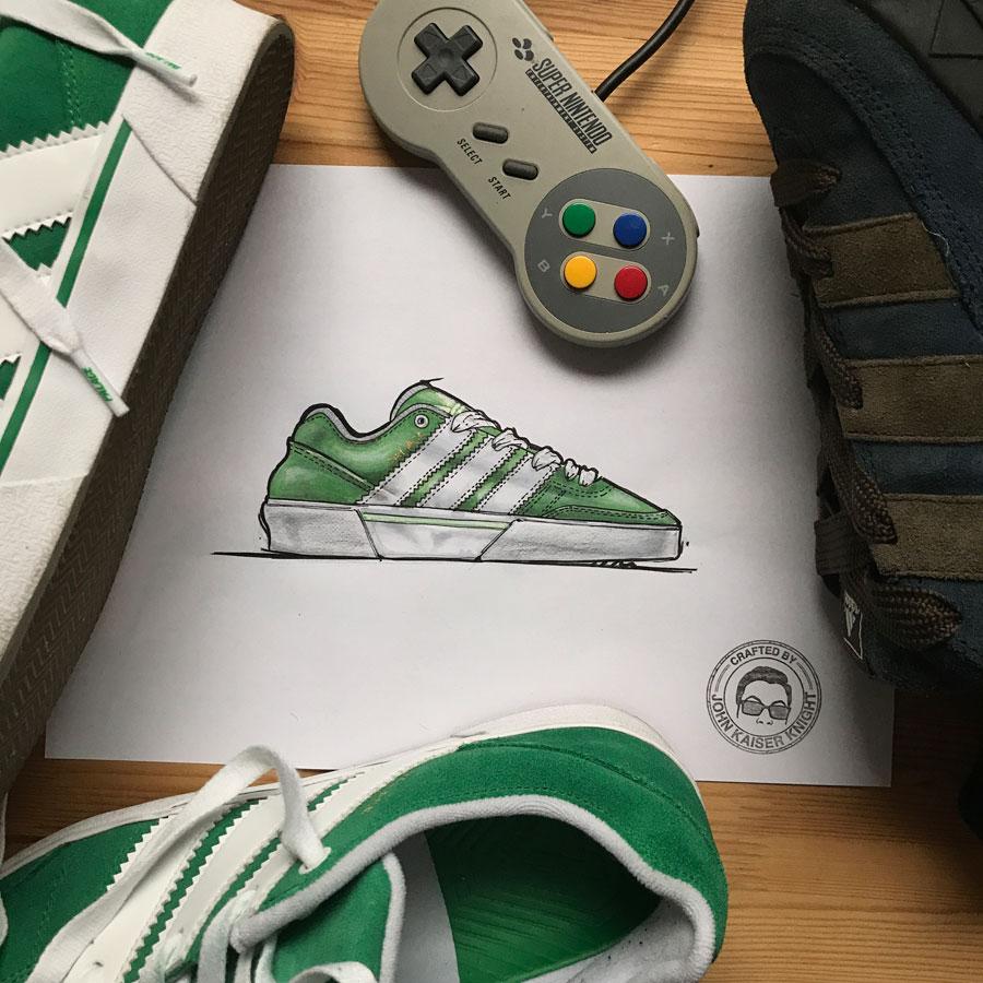 Sneaker Illustrations John Kaiser Knight - adidas x Palace OReardon (Doodle)