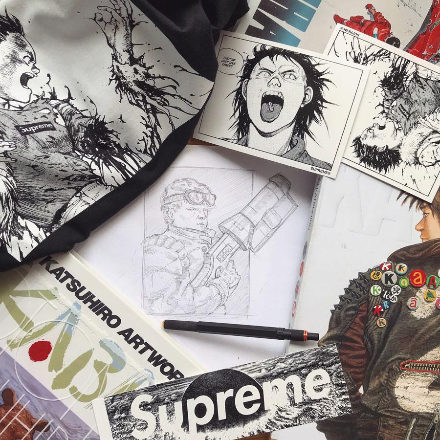 Sneaker Illustrations John Kaiser Knight - Comics Mangas Influences