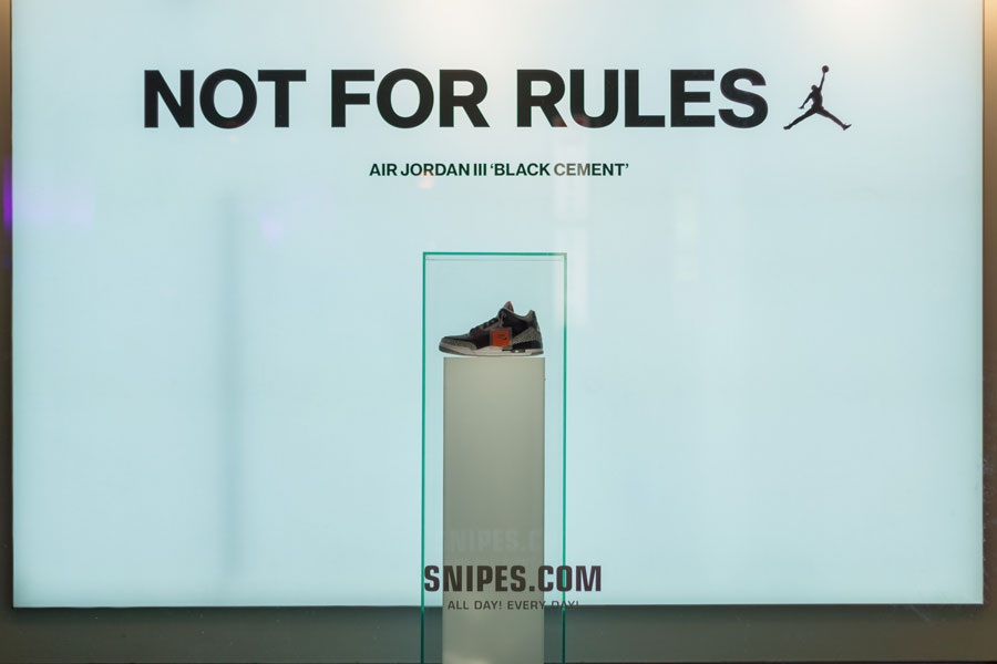 SNIPES Berlin Air Jordan III Black Cement 2018 - Not For Rules