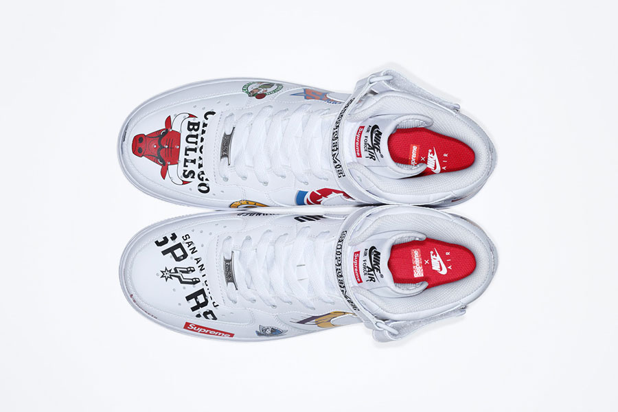 Supreme x Nike Air Force 1 Mid 07 NBA (AQ8017-100) - White (Top)