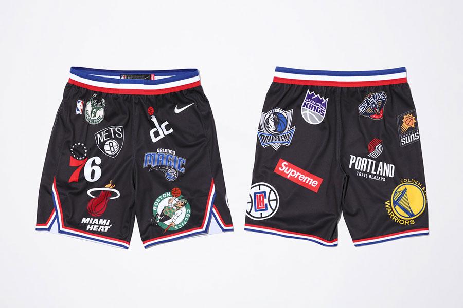 Supreme x Nike Air Force 1 Mid 07 NBA - Basketbal Shorts (Black)