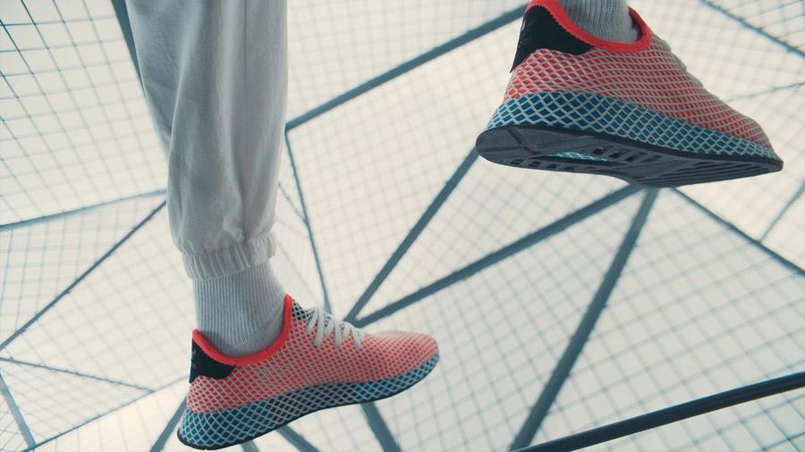 adidas Deerupt (CQ2624 Solar Bird) - On feet (Heel)