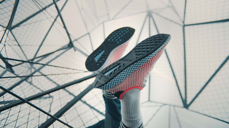 adidas Deerupt (CQ2624 Solar Bird) - On feet (Sole)
