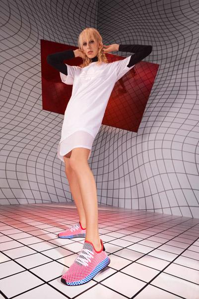 adidas Deerupt (CQ2624 Solar Bird) - On feet (Women)