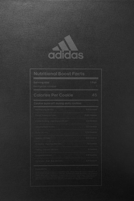 adidas UltraBOOST LTD Cookies & Cream (BB6180) - Nutrition Facts