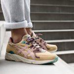 asphaltgold x ASICS Gel-DS Trainer OG Jugendstil - On feet (Side)