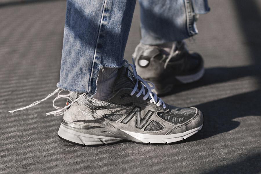 New Balance M990GL4 - On feet (Close Up)