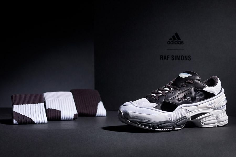 Raf Simons x adidas Ozweego Replicant (B22512 Black Cream White) - Mood