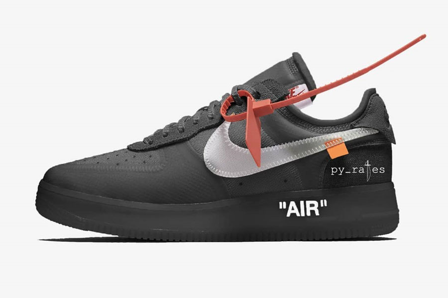 OFF-WHITE x Nike 2018 Releases - Air Force 1 Low Black (AO4606-001)