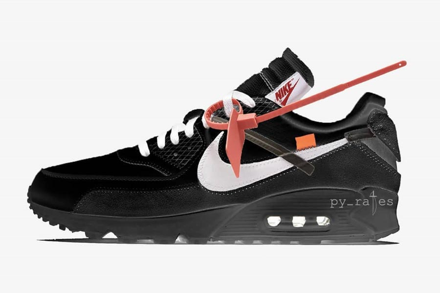 OFF-WHITE x Nike 2018 Releases - Air Max 90 Black (AA7293-001)