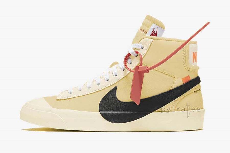 OFF-WHITE x Nike 2018 Releases - Blazer Studio Mid Canvas Yellow (AA3832-700)