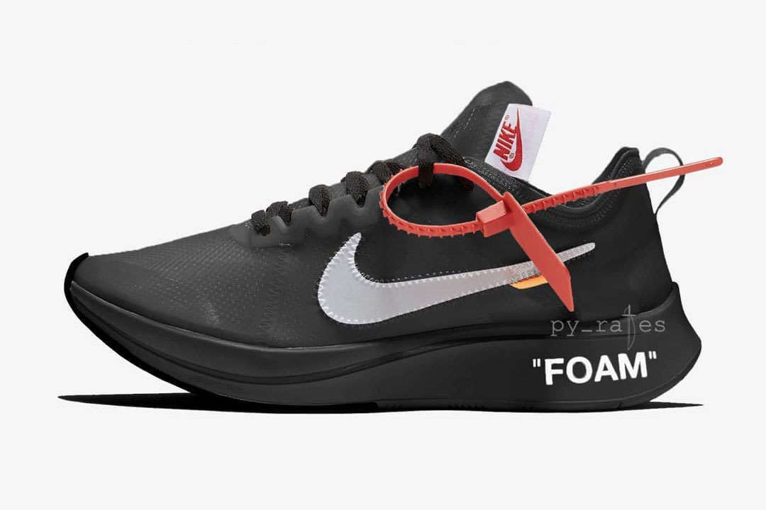 OFF-WHITE x Nike 2018 Releases - Zoom Fly Black (AJ4588-001)