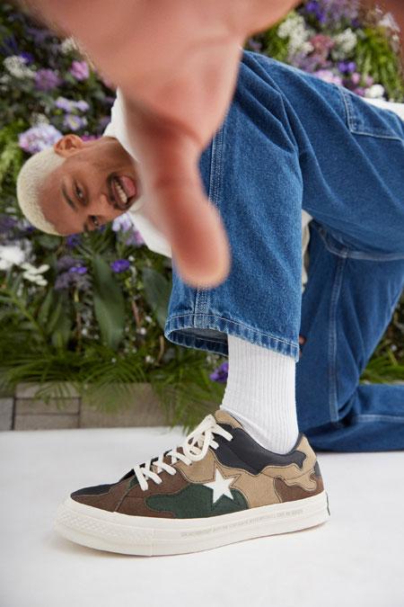 Sneakersnstuff x Converse One Star - Canteen (On feet)