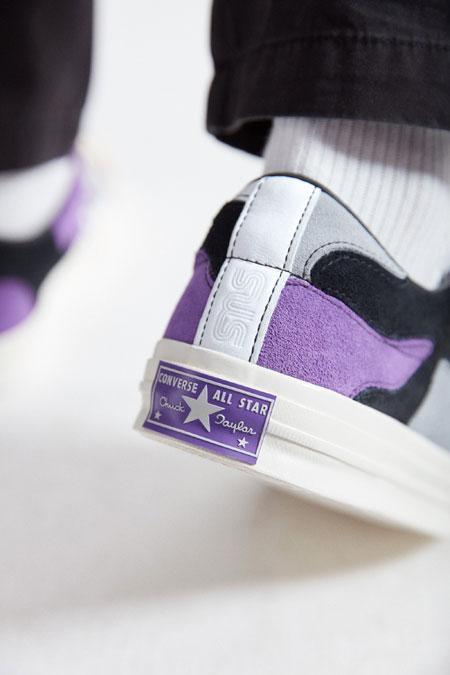 Sneakersnstuff x Converse One Star - Deep Lavender (On feet Back)