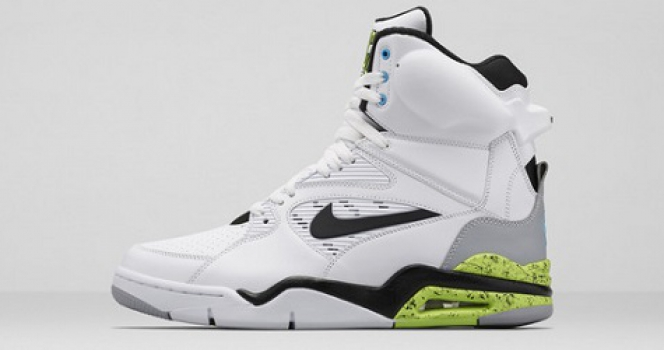 Nike Air Command Force – White/Black-Wolf Grey-Volt-Vivid Blue Detailed Look