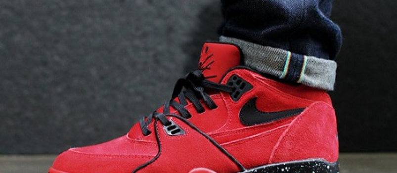 "the latest b5bf7 8e6ff The Suede On This Nike Air Flight 89 ""Gym Red"" Is Butter."