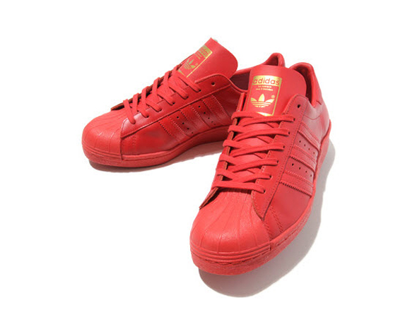 Magazine Originals Adidas Superstar Red Sneakers qTnHUI