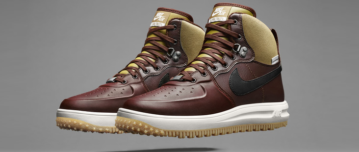3ffd8ffe5b05c8 Nike Lunar Force 1 Sneakerboot – Watershield Barkroot Brown   Black Release  Info