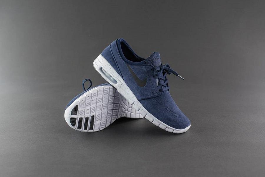 buy popular b5640 f4033 Nike SB Stefan Janoski Max L – Obsidian  Noir Black-White Release Info