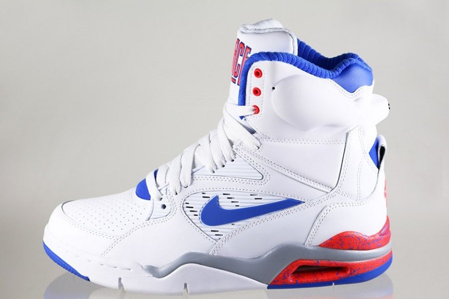 Nike Air Command Force – White  Lion Blue-Bright Crimson-Wolf Grey Release  Info fe6ce6d77