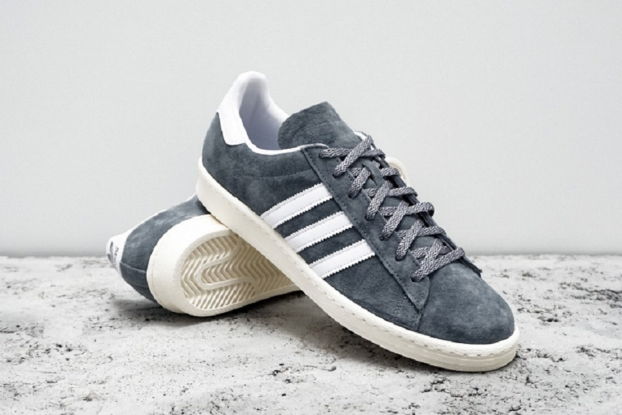 new product cfdb0 3a4f9 NIGO x adidas Originals Campus 80s – Grey Running White Cream – Release  InfoNIGO x adidas Originals Campus 80s – Grey Running White Cream –  Release Info