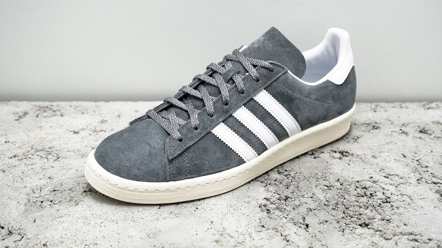 NIGO x adidas Originals Campus 80s - Grey  Running White  Cream ... 7c0269c8e