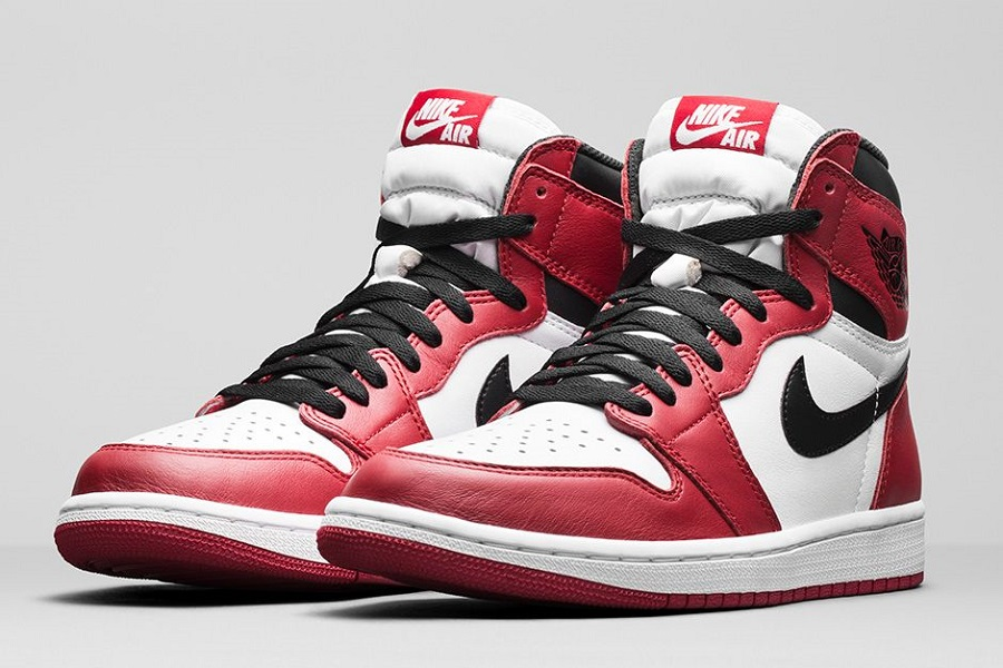 Air Jordan 1 Retro High OG - White/Varsity Red-Black 2015