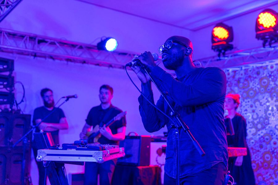 k-Ghostpoet performance at Vault by Vans x Takashi Murakami Event