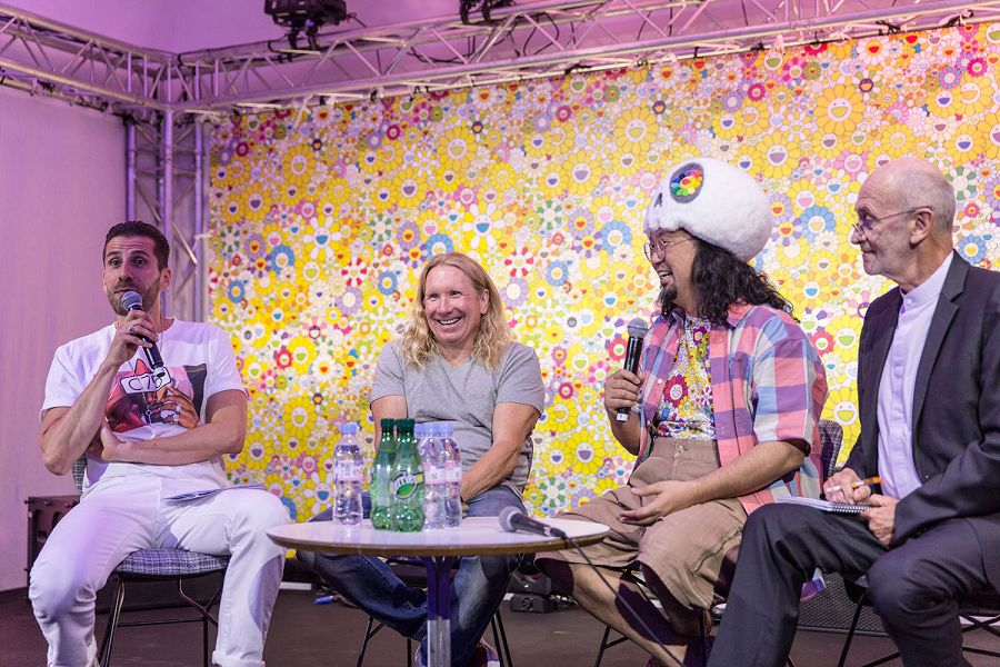 k-Host Michael Dupouy_Vans Steve Mills_Takashi Murakami_press conference 2