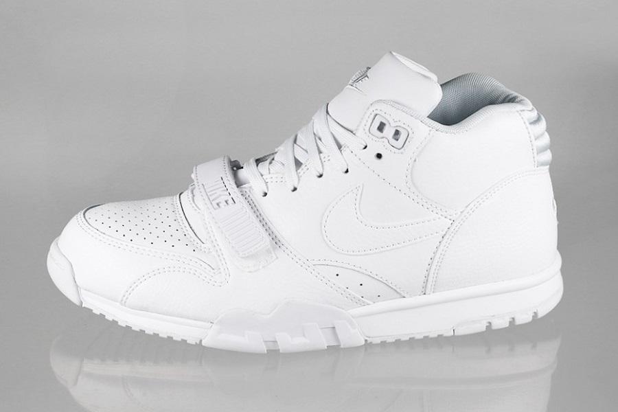 pretty nice 6f181 c9398 Nike Air Trainer 1 Mid – White White-Pure Platinum Release InfoNike Air  Trainer 1 Mid – White White-Pure Platinum Release Info