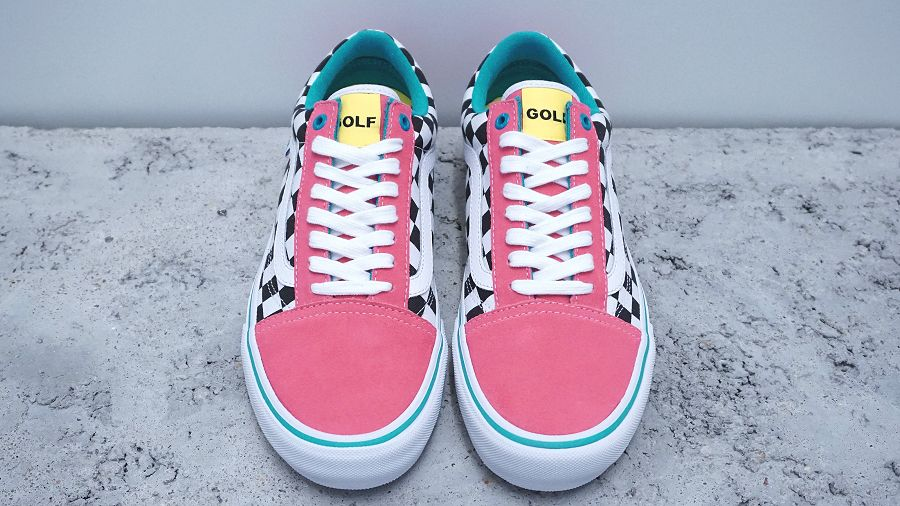 k-Old Skool Pro Golf Wang Blue Pink White4