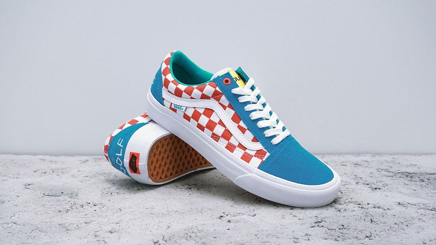 k-Old Skool Pro Golf Wang Blue Red White1