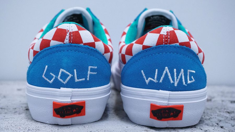 k-Old Skool Pro Golf Wang Blue Red White5