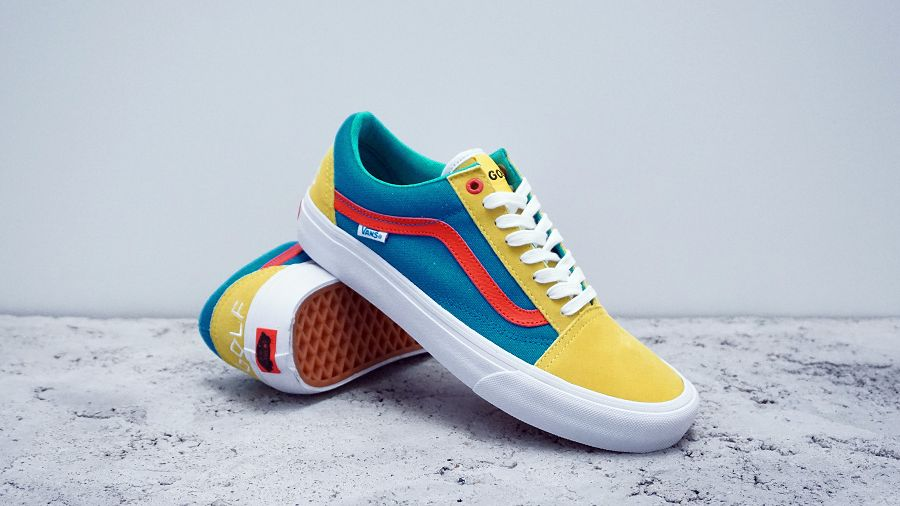 k-Old Skool Pro Golf Wang Yellow Blue Red1