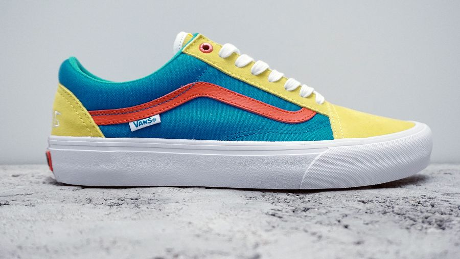 k-Old Skool Pro Golf Wang Yellow Blue Red2