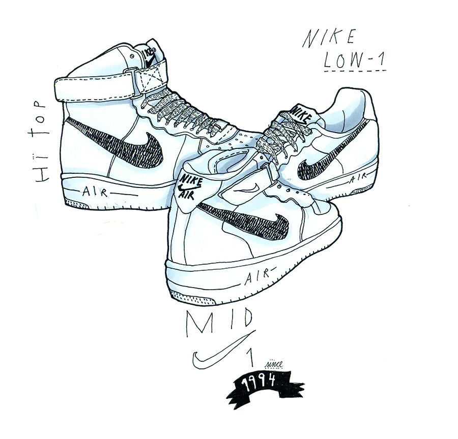Pico Intención Oblicuo  The Illustrated History of the Air Force 1 Pt. I - Sneakers Magazine