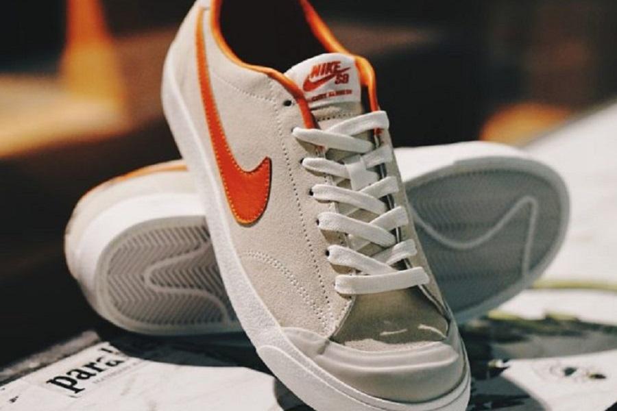 best website d4401 e6415 Poler x Nike SB Air Zoom All Court CK – Ivory  Univ Orange-Light Bone  Release Info