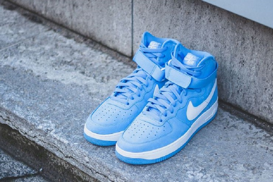 Men Nike Air Force 1 Hi Retro QS University Blue Summit White M39g1547S94r9323
