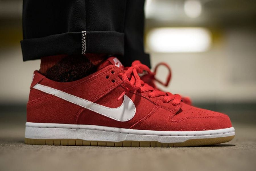 reputable site 48649 9c46a Nike Dunk Low Pro SB Ishod Wair In University Red/ White-Gum ...