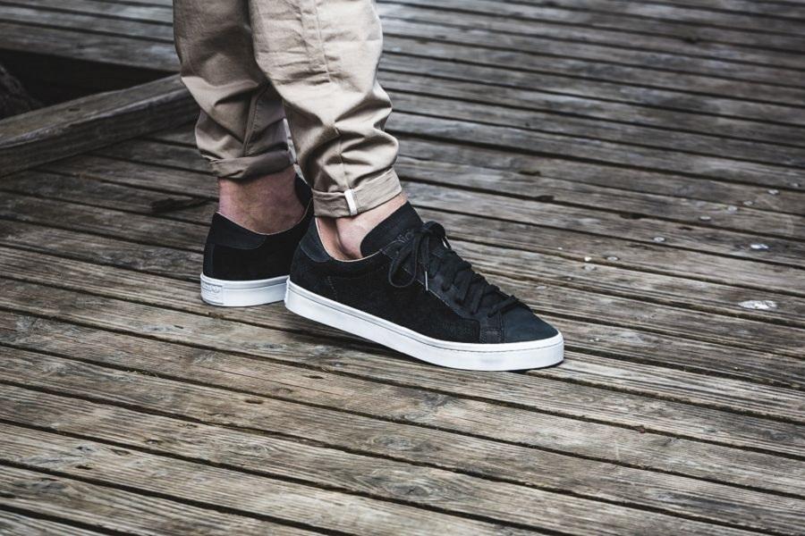 the best attitude e0628 53854 adidas Court Vantage – Black White Release Info