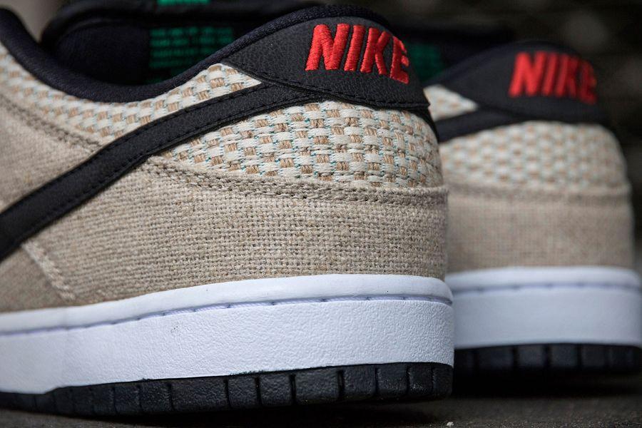 k-Nike SB Dunk Low Premium 420 Hemp Bamboo Black White d6