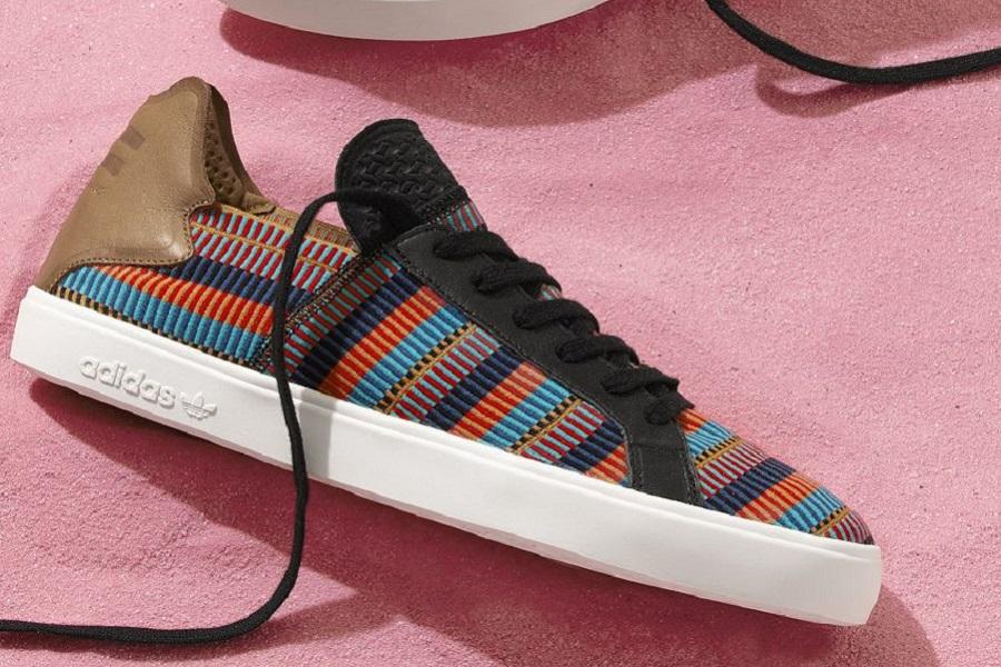 buy popular 74d09 bdbb4 Pharrell Designs The adidas Originals Pink Beach Collection