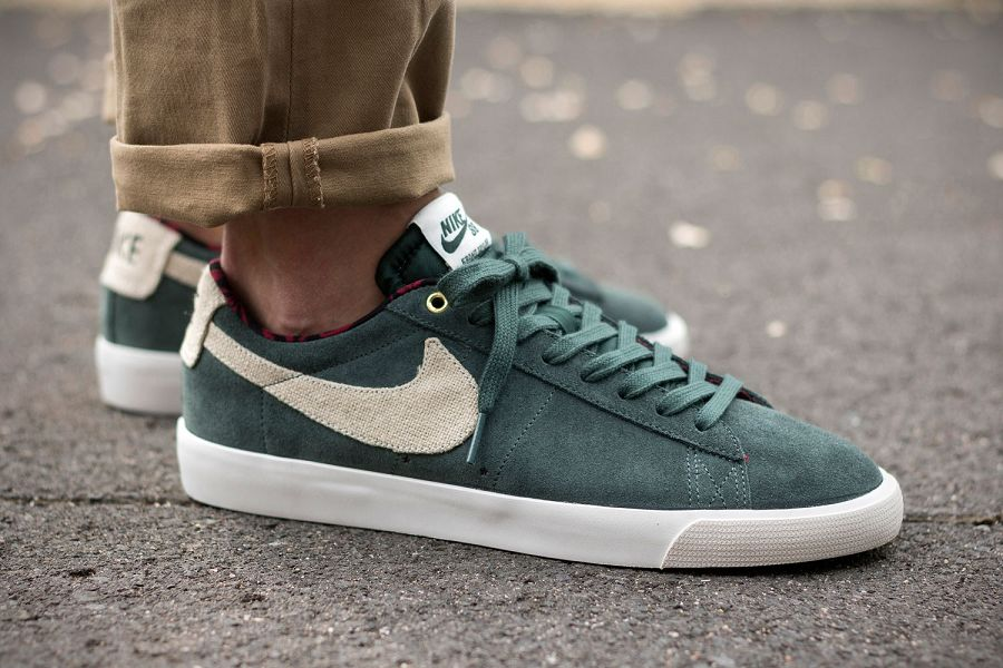 save off 2ad8a 213a1 Nike SB Blazer Low GT Grove Green Released
