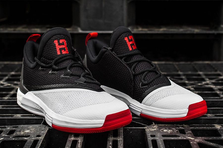 750237677955 k-adidas-crazylights-white-black-red-angle. Houston Rockets  superstar James  Harden ...