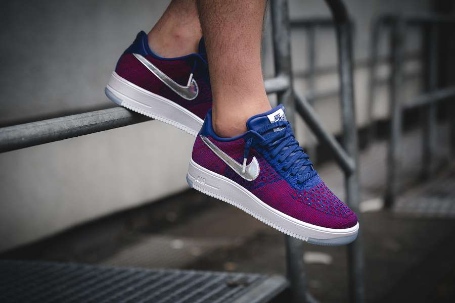 k-nike_Air Force 1 Ultra Flyknit Low PRM gym red-deep royal-blue_1004485-2