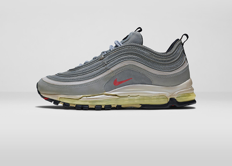 20 years old: An original pair of Nike Air Max 97s.